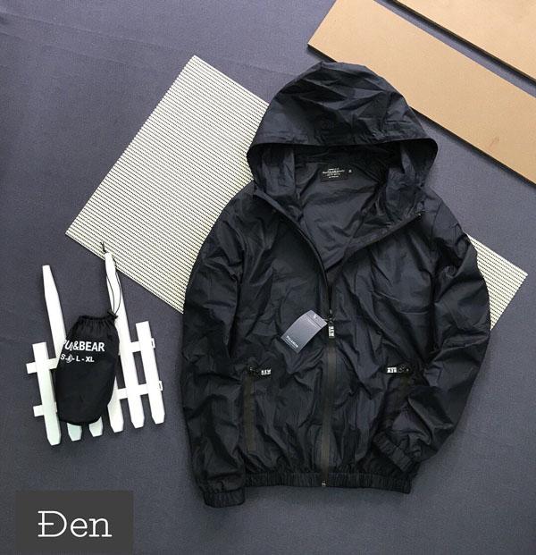 Áo khoác dù Pull & Bear đen