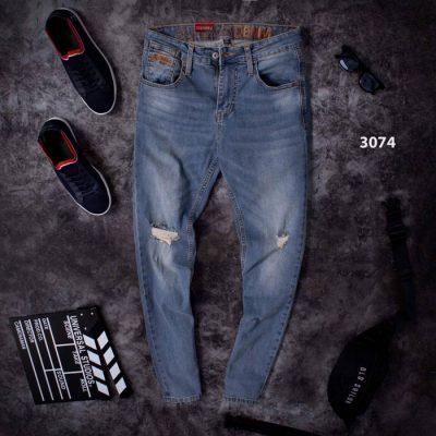 Quần jean dài nam mã 3074