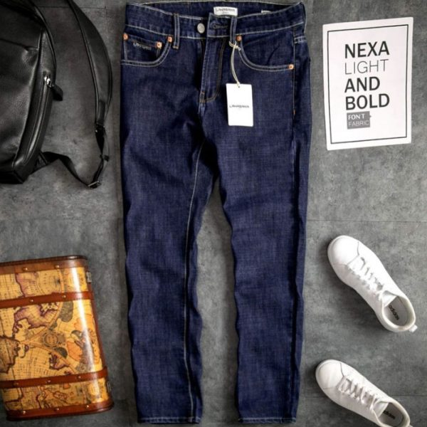 Quần jean nam dài suông jean thun co giãn 01