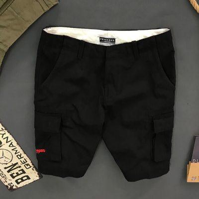 Quần short nam kaki pegasus màu đen