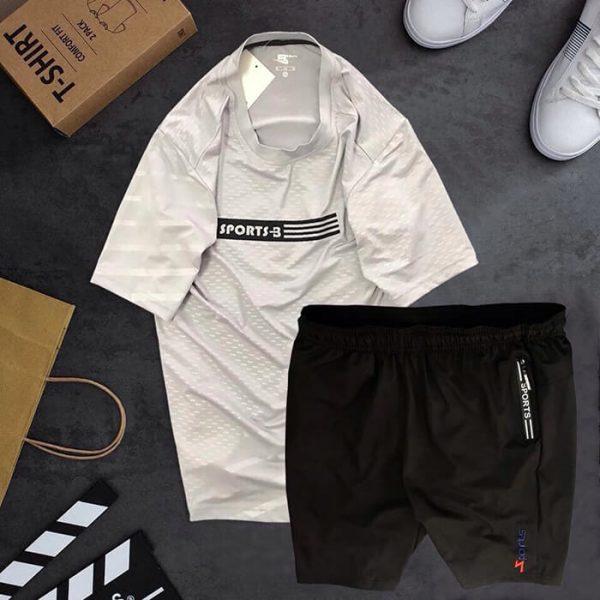 Set quần áo thể thể thao đen trắng