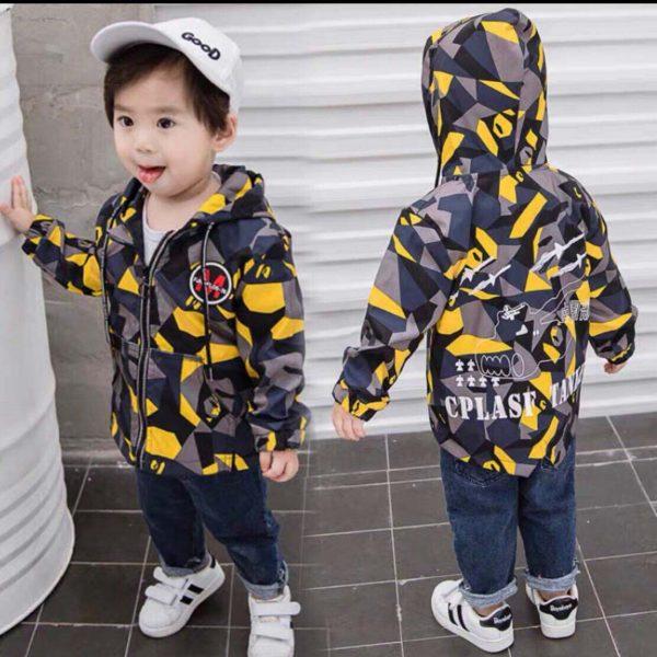 Áo khoác dù in 3D trẻ em 1