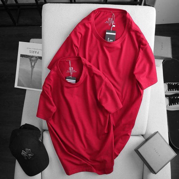 Áo thun nam cotton ATNUS đỏ