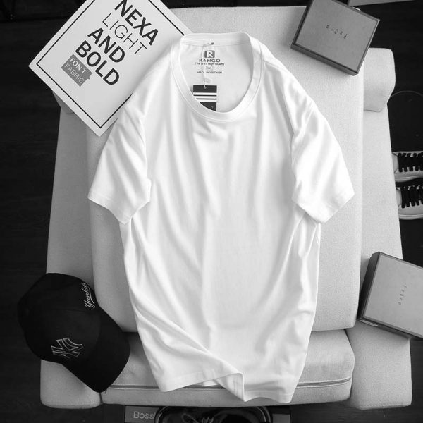 Áo thun nam cotton ATNUS trắng 1