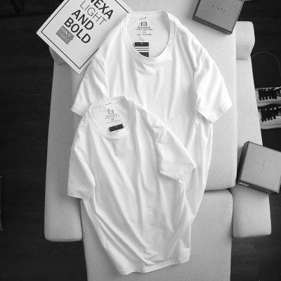 Áo thun nam cotton ATNUS trắng