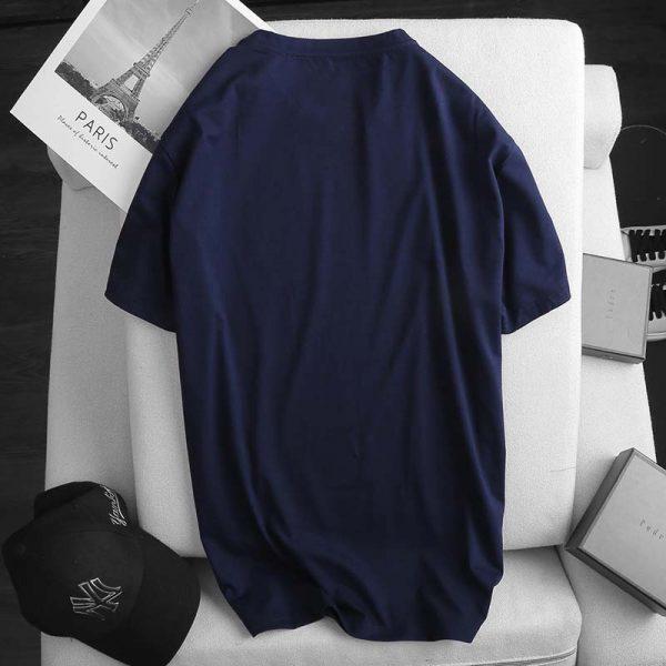 Áo thun nam cotton ATNUS xanh dương