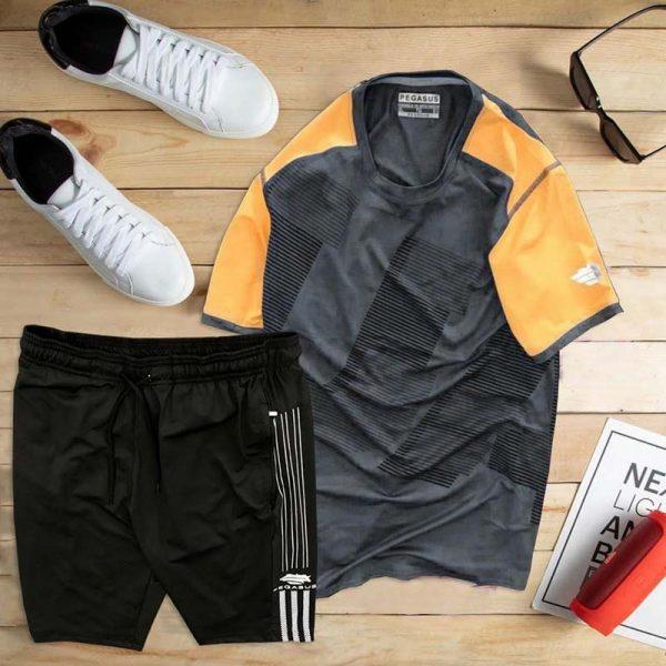 Đồ bộ thể thao áo họa tiết 1