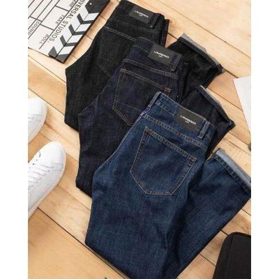 Quần jean nam phông suông basic 1