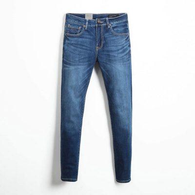 Quần jean nam phông suông basic 3
