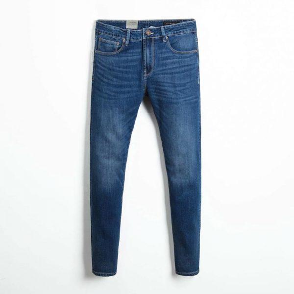 Quần jean nam phông suông basic 6