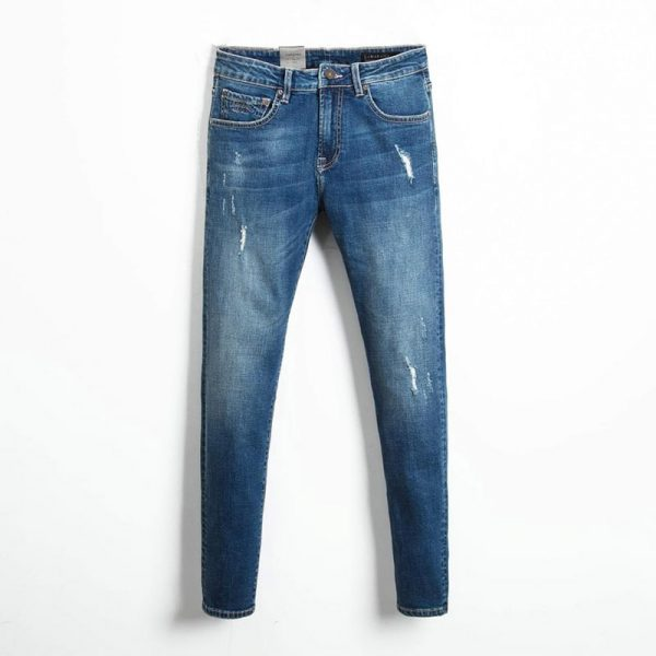 Quần jean nam phông suông basic 7