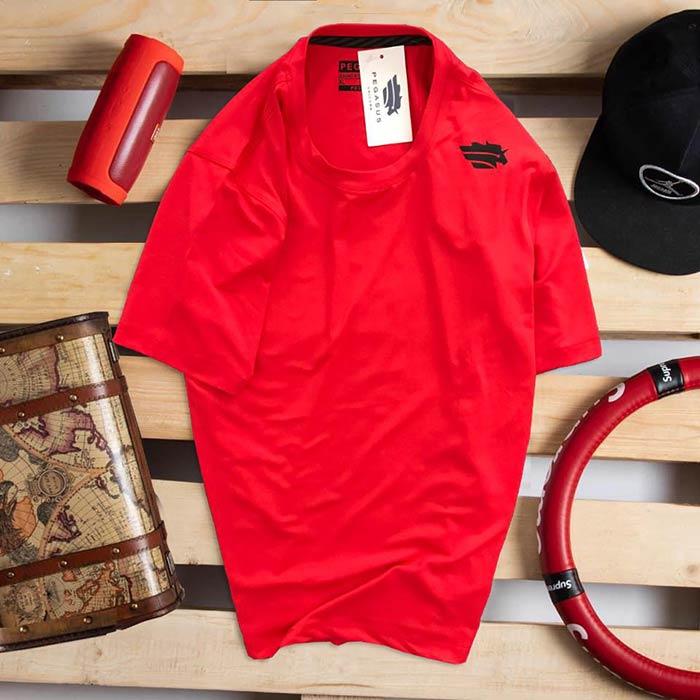 Áo thun nam thể thao cổ tròn Pegasus đỏ 1