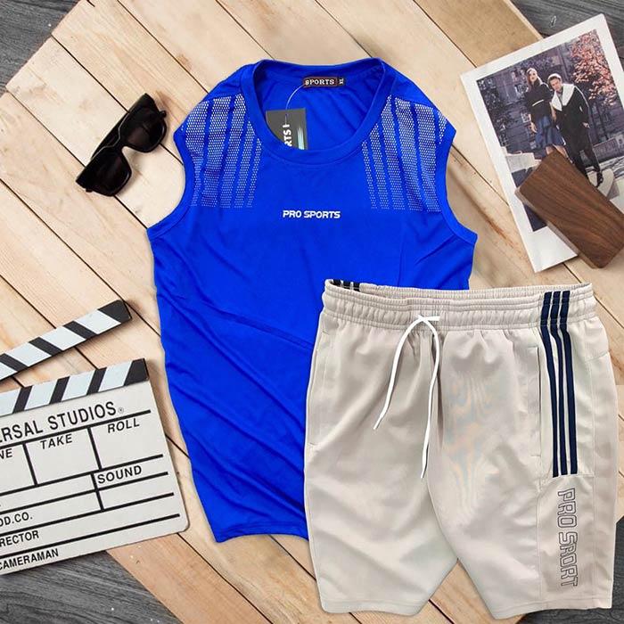 Đồ bộ thể thao áo ba lỗ quần short Pro Sports 1