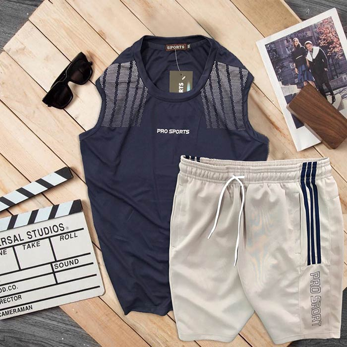 Đồ bộ thể thao áo ba lỗ quần short Pro Sports 8