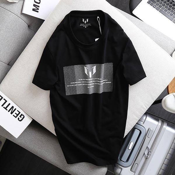 Áo thun nam cotton single 2 chiều đen