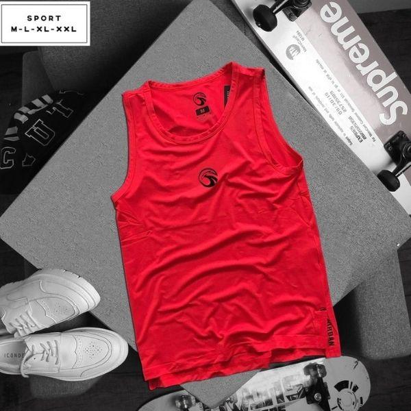 Áo thun thể thao đỏ